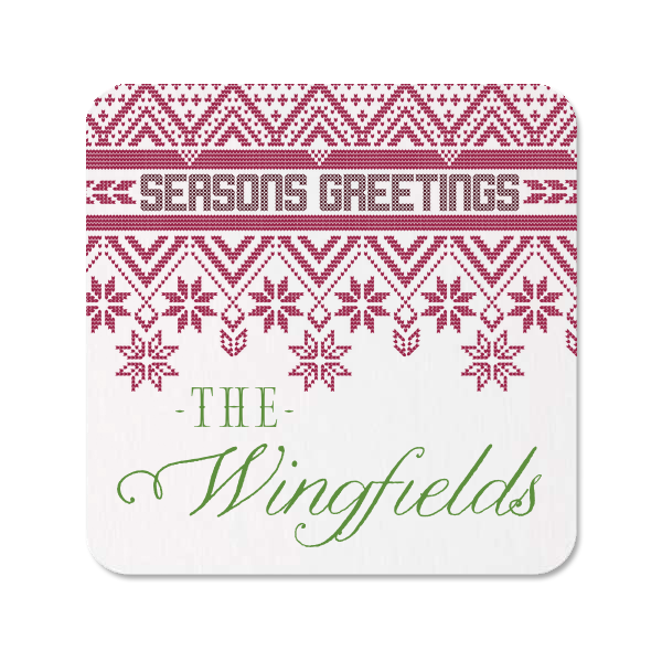 Seasons Greetings Photo/Full Color Coasters