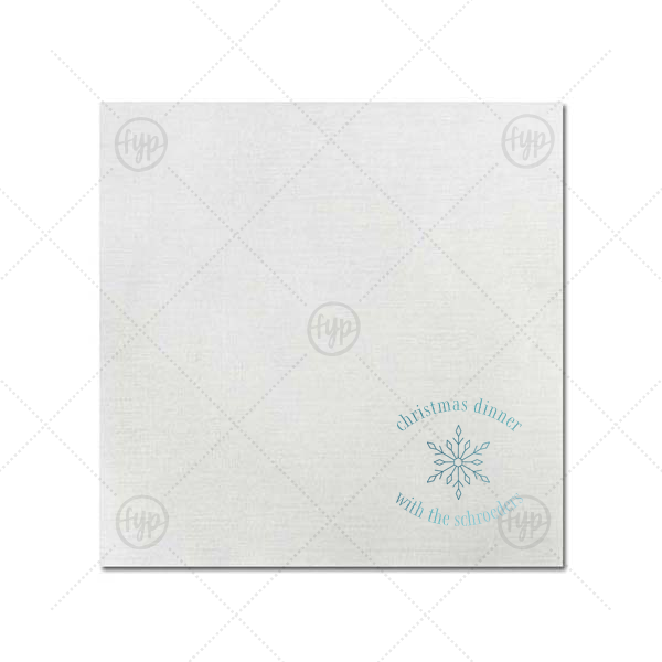 Christmas Dinner Snowflake Napkin