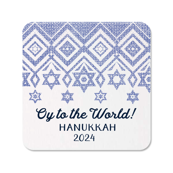 Hanukkah Sweater Photo/Full Color Coaster
