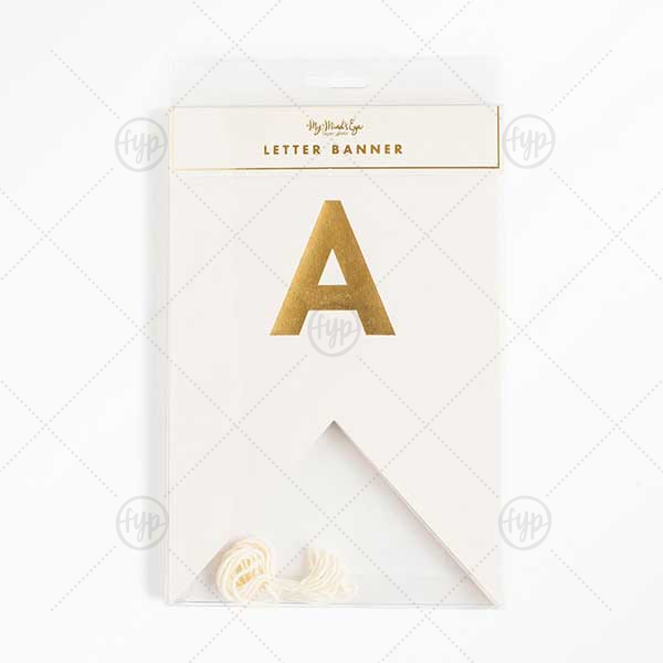 Our Fancy Letter Banner will look fabulous with your unique touch. Your guests will agree!