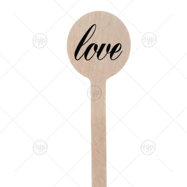 Martha Stewart Love Stir Stick | This elegant Round Stir Stick with Matte Black Foil features a Love graphic. Designed by Martha Stewart Weddings, this bar accessory is sure to impress!