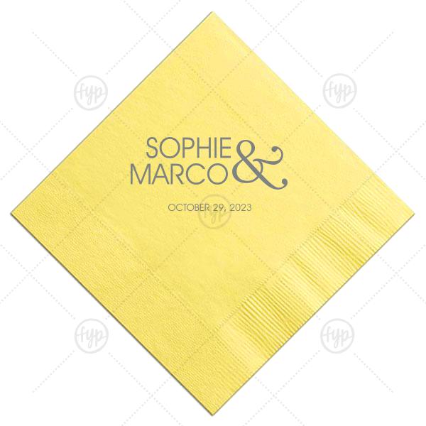 Modern Ampersand Wedding Napkin