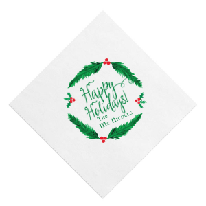 Holiday Wreath Photo/Full Color napkin
