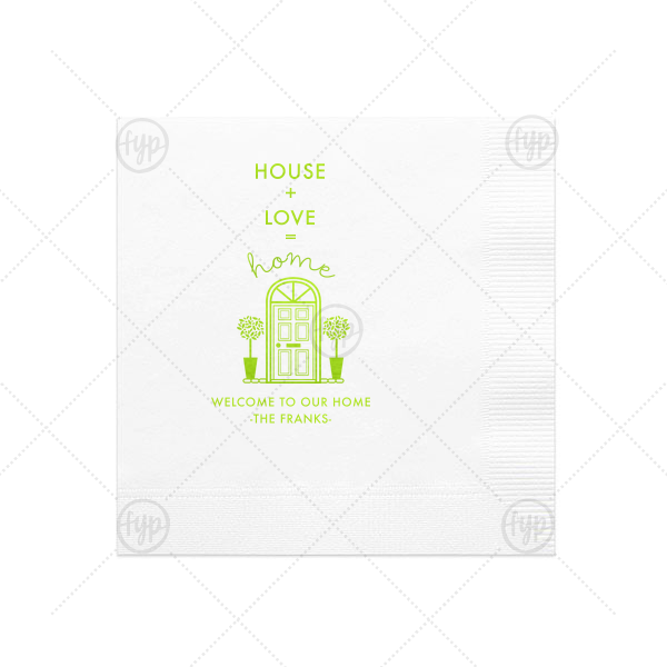 House Plus Love Napkin
