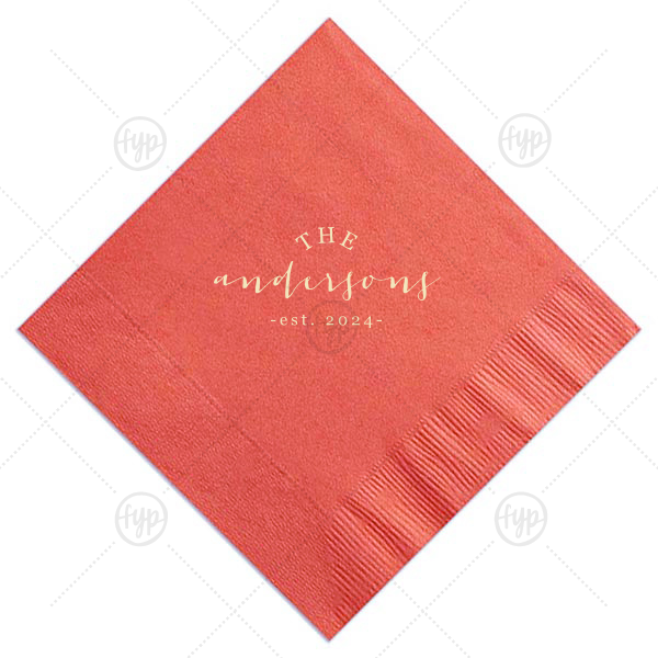 Family Est Napkin | Personalized Slate Cocktail Napkin with Matte Ivory Foil couldn't be more perfect. It's time to show off your impeccable taste.
