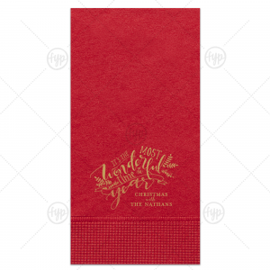 The Most Wonderful Time Napkin