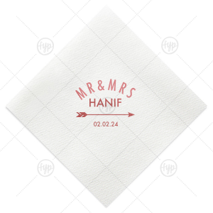 Rounded Mr and Mrs Napkin