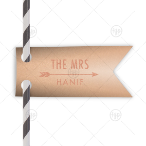 The Mrs Arrow Straw Tag