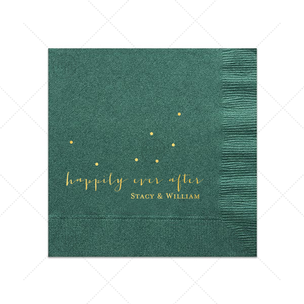Our custom Tiffany Blue Cocktail Napkin with Shiny 18 Kt Gold Foil are a must-have for your next event—whatever the celebration!
