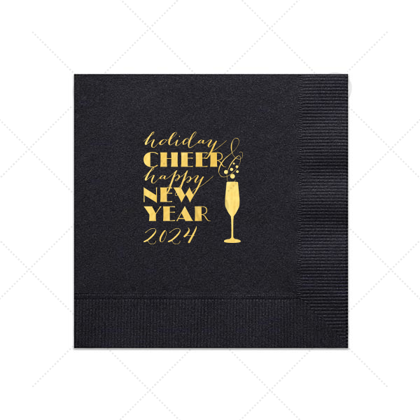 Holiday Cheer New Year Napkin