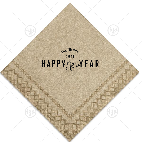 Personalized Champagne Cocktail Napkin with Matte Black Foil will look fabulous with your unique touch. Your guests will agree!