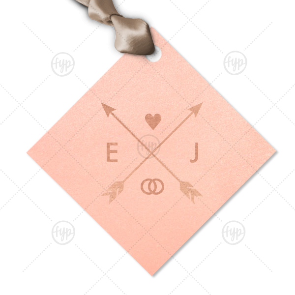 Our beautiful custom Stardream Ballet Pink Diamond Gift Tag with Shiny Rose Gold Foil has a Cross Arrows 1 graphic and is good for use in Accents, Frames themed parties and are a must-have for your next event—whatever the celebration!