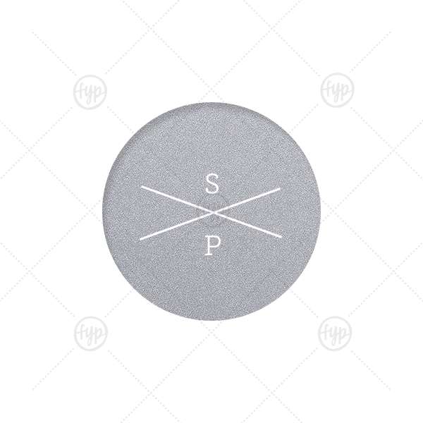 Personalized Stardream Ivory Round Label with Matte Mauve Ink Digital Print Colors will add that special attention to detail that cannot be overlooked.