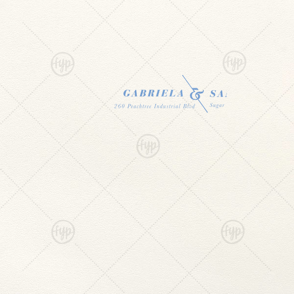 Angled Ampersand Letterpress Envelope | Our custom Lettra Pearl White 110lb Invitation Envelope with Satin French Blue Foil has a Accent Ampersand graphic and is good for use in Couple, Wedding themed parties and are a must-have for your next event—whatever the celebration!