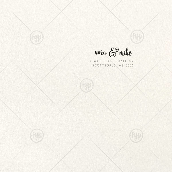 Our custom Lettra Pearl White 110lb Invitation Envelope with Black Ink Letterpress Inks has a Fancy Flourish 6 graphic and is good for use in Modern themed parties and will add that special attention to detail that cannot be overlooked.