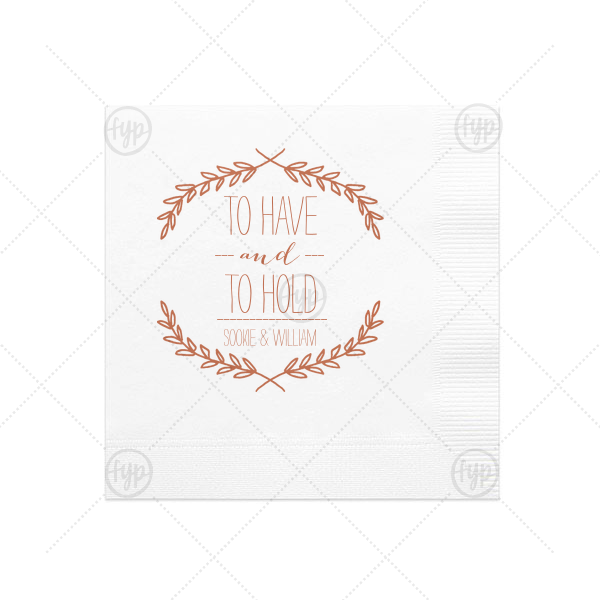 Branch Wreath Napkin