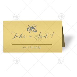 Rings Place Card