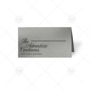 The Adventure Continues Place Card