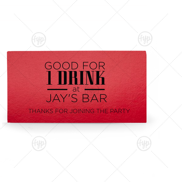 Thank You Drink Ticket Place Card