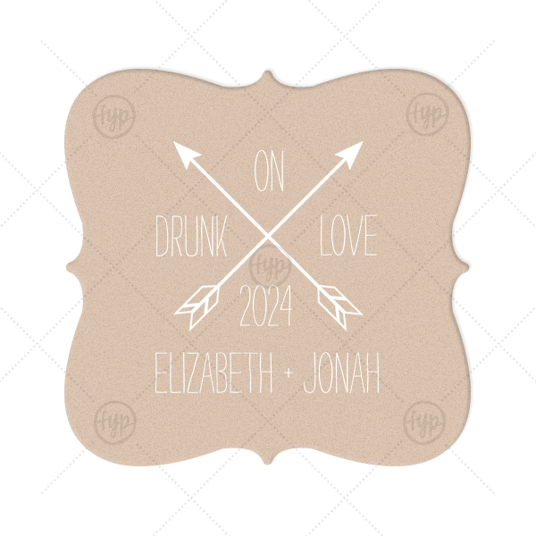 ForYourParty's elegant Kraft with Blush back Nouveau Coaster with Matte White Foil Color has a Cross Arrows 2 graphic and is good for use in Accents, Frames themed parties and will add that special attention to detail that cannot be overlooked.