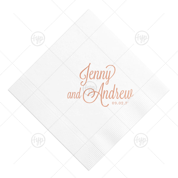 Custom Light Coral Cocktail Napkin with Satin Lipstick Red Foil will impress guests like no other. Make this party unforgettable.
