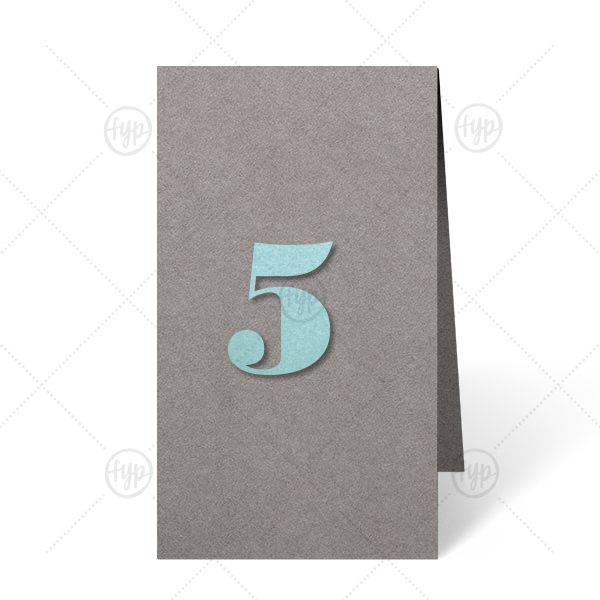 ForYourParty's personalized Natural Slate Euro Table Number with Stardream Tiffany Blue Number Paper Color will impress guests like no other. Make this party unforgettable.