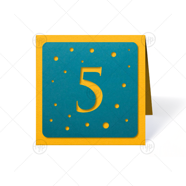Customize these bright table numbers for a cute table addition! Perfect for a birthday party, shower or mitzvah. Simply choose your theme colors, select the number needed and complete your seating chart.