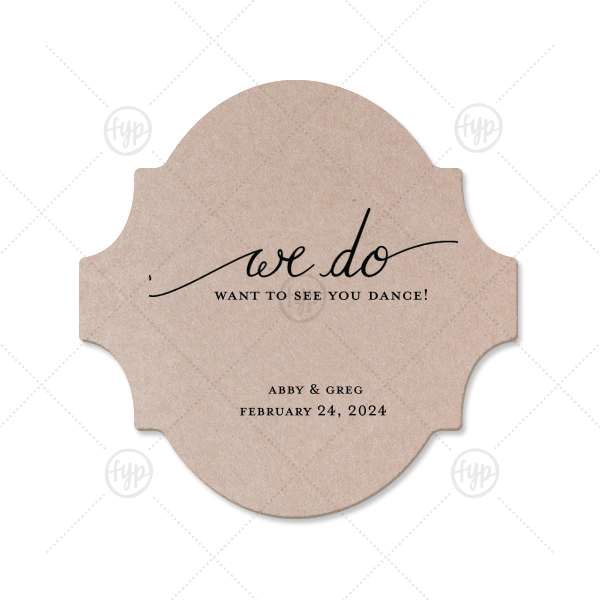 I do Coaster | Custom Silver with Black back Ornament Coaster with Matte Navy Foil Color has a We Do graphic and is good for use in Words, Wedding themed parties and are a must-have for your next event—whatever the celebration!