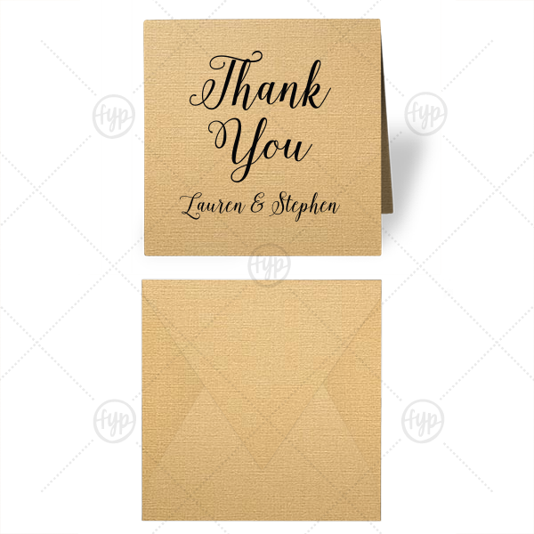 Romantic Thank You Gift Enclosure   ForYourParty's elegant Linen Pearl Gold Gift Enclosure with Matte Black Foil are a must-have for your next event—whatever the celebration!