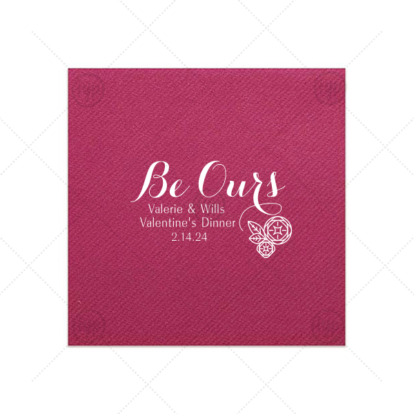Our personalized Plum Cocktail Napkin with Satin Sterling Silver Foil has a Geo Flowers graphic and is good for use in Floral themed parties and couldn't be more perfect. It's time to show off your impeccable taste.