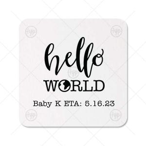 Hello World Baby Coaster