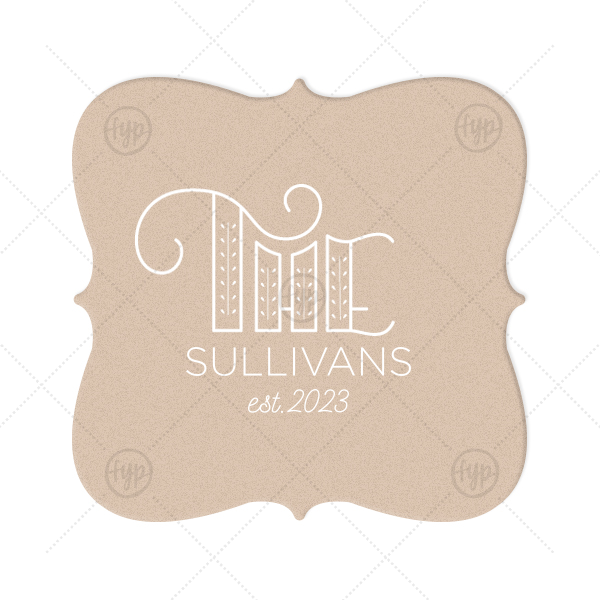 The Wordart Coaster | ForYourParty's elegant Kraft with Blush back Nouveau Coaster with Matte White Foil Color has a Accent The graphic and is good for use in Accents themed parties and can be customized to complement every last detail of your party.