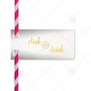 Clink & Drink Straw Tag
