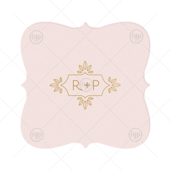 ForYourParty's personalized Blush with Kraft back Nouveau Coaster with Satin 18 Kt. Gold Foil Color has a Love Buds Frame graphic and is good for use in Frames themed parties and will give your party the personalized touch every host desires.