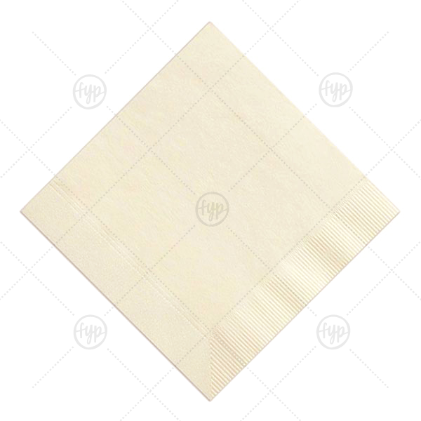 Blank Napkin | Our personalized Ivory Blank Cocktail Napkin with Satin 18 Kt. Gold Foil Color has a Love Buds Frame graphic and is good for use in Frames themed parties and can be customized to complement every last detail of your party.