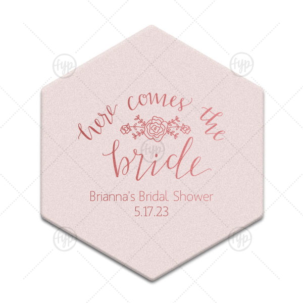 Here Comes the Bride Coaster