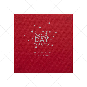 Best Day Ever Bubbles Napkin