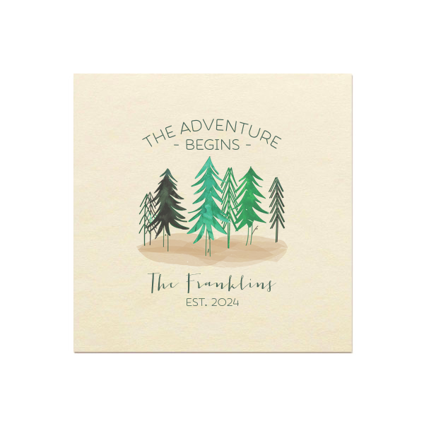 Adventure Forest Photo/Full Color Napkin | Please use your computer to upload your own 4 color image or customize this napkin and add to cart.