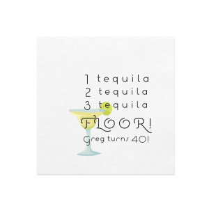 Tequila Photo/Full Color Napkin