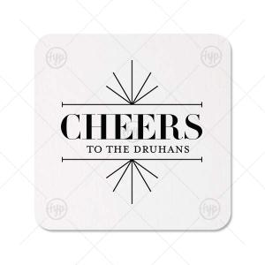 Line Frame Cheers Coaster