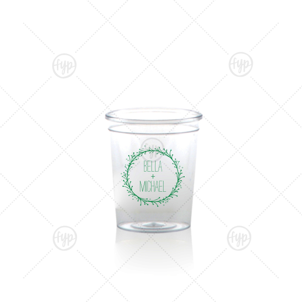 Cute Wreath Shot Glass