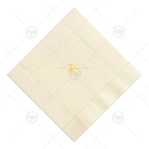 Diamond Ring Anniversary Napkin