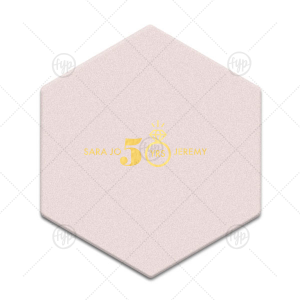 Diamond Ring Anniversary Coaster