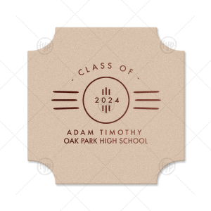 Roaring Twenties Graduation Coaster