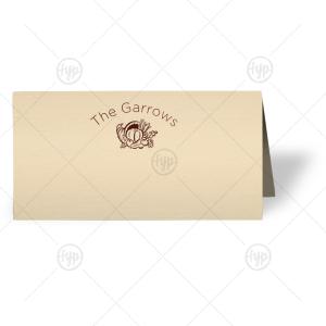 Cornucopia Place Card