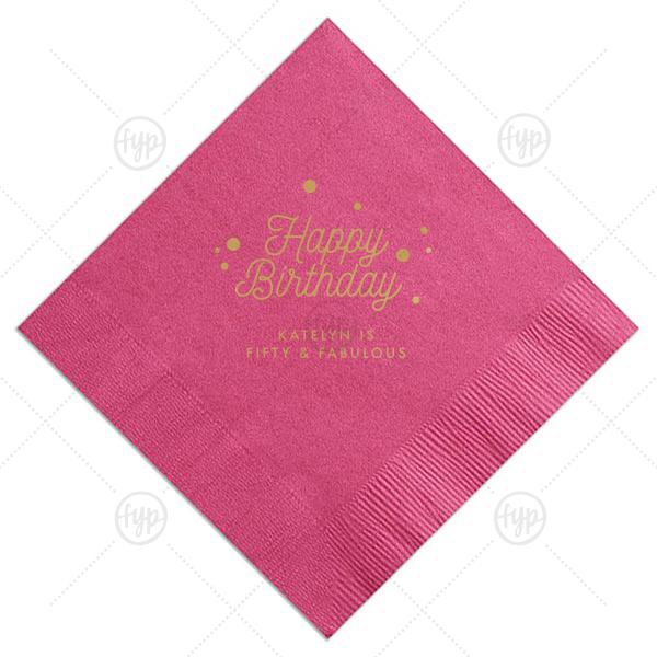 Happy Birthday Confetti Napkin