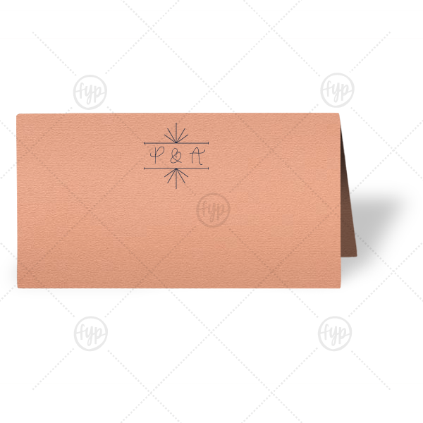 Line Frame Place Card | Personalized Poptone Peach Classic Place Card with Matte Navy Foil has a Line Frame graphic and is good for use in Frames themed parties and couldn't be more perfect. It's time to show off your impeccable taste.