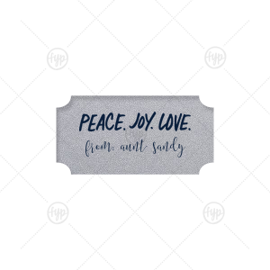 Peace Joy Love Label