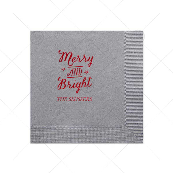 Merry and Bright Shimmer Napkin
