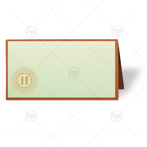 Burst Initial Place Card
